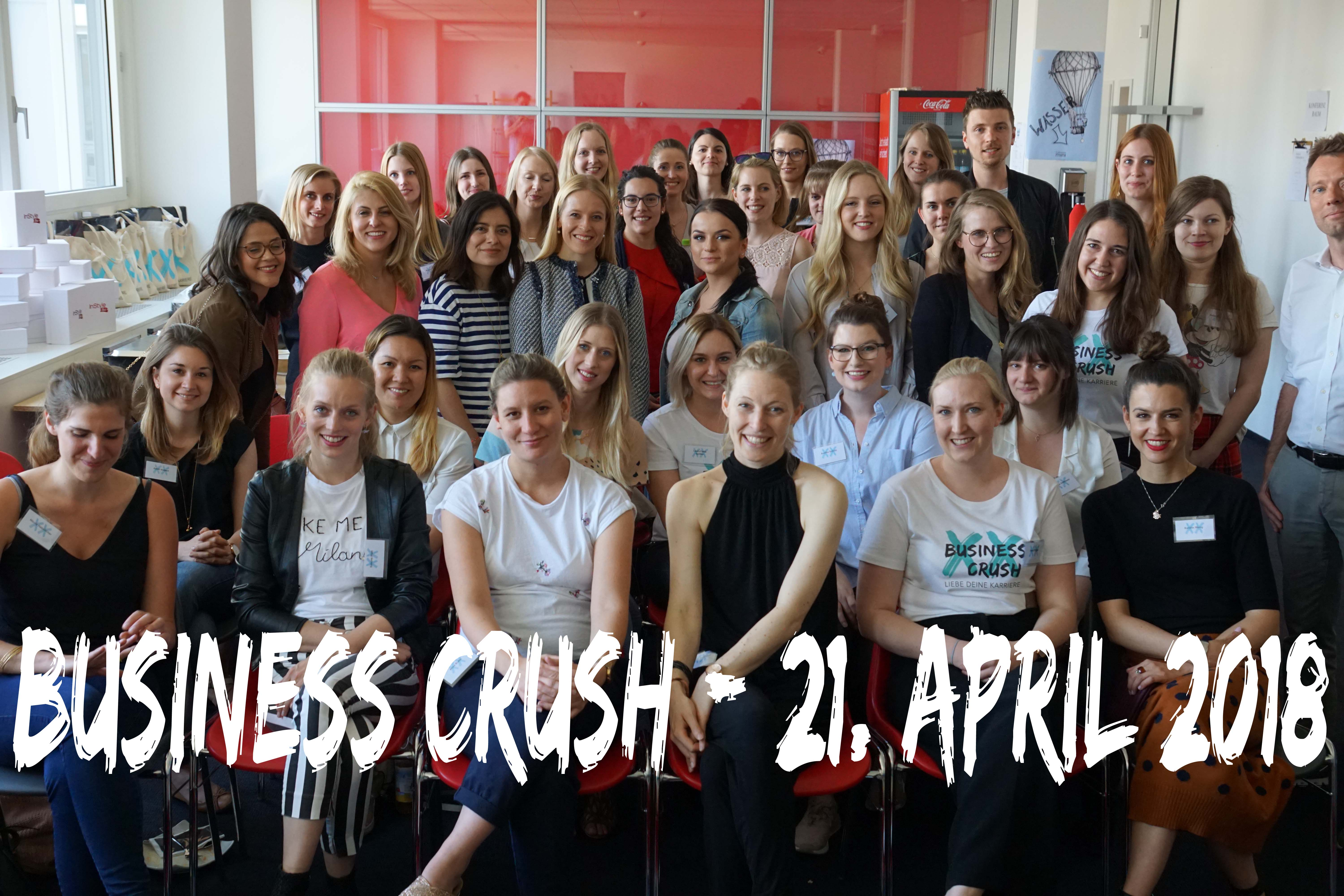 Business Crush-Event am 21. April 2018.